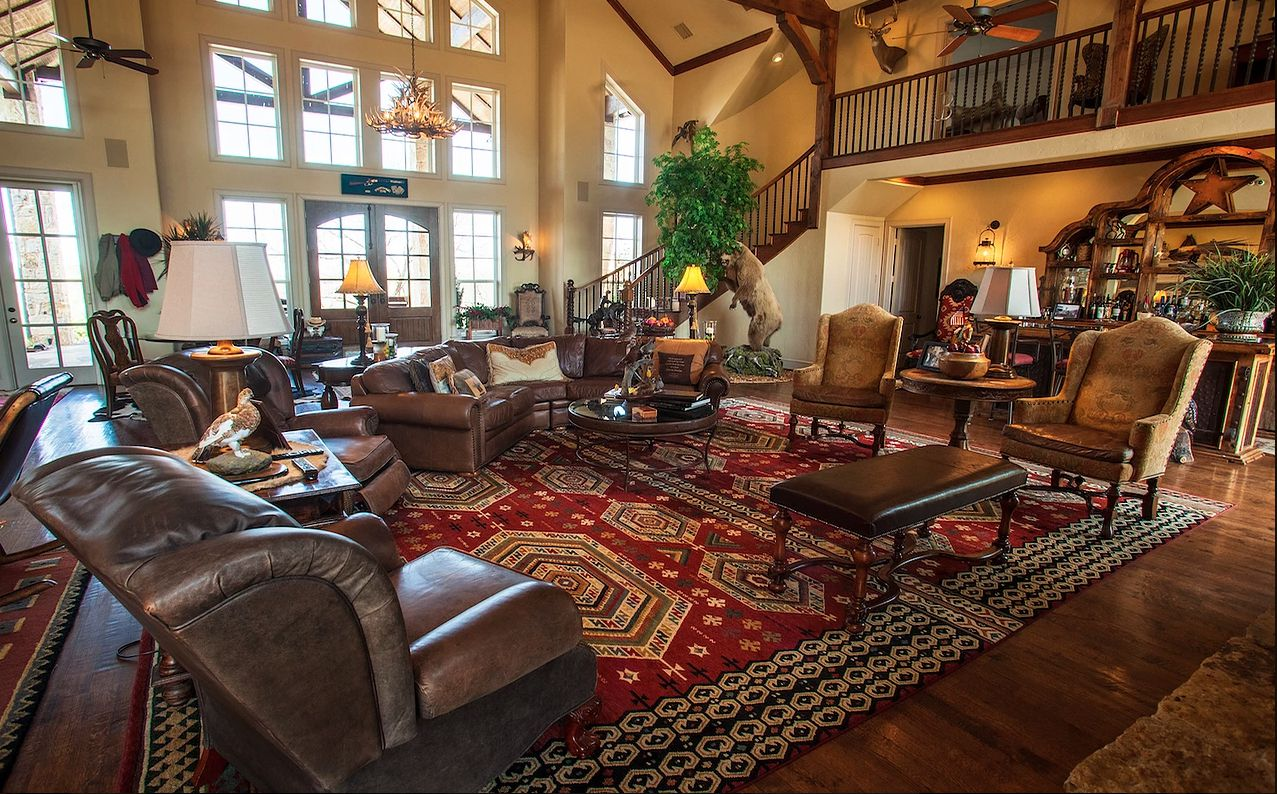 The ranch has an 8,000-square-foot main house.