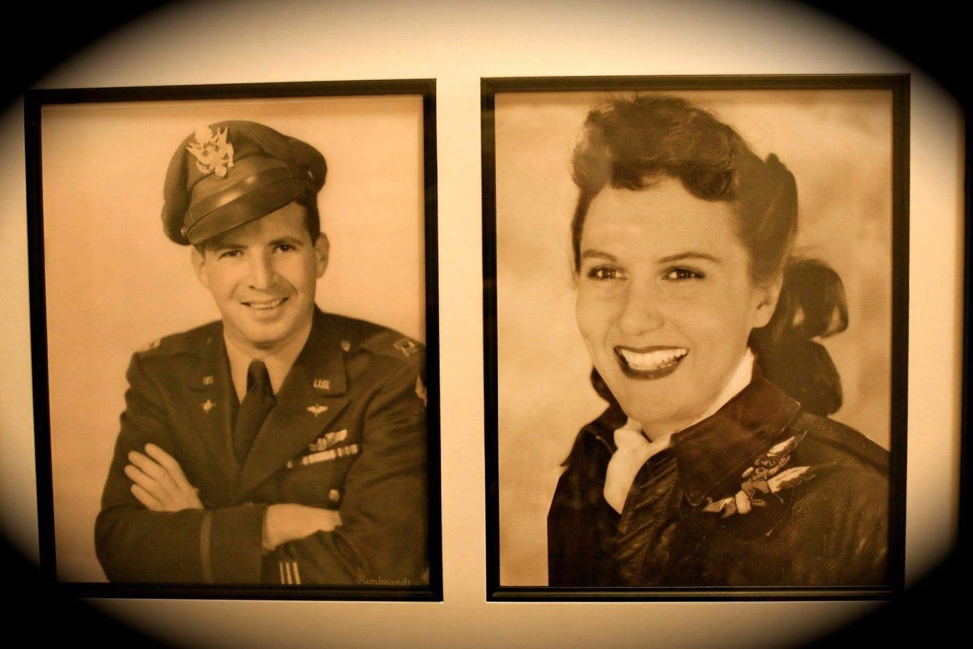 """Muriel """"Mimi"""" Lindstrom Segall, left, and her husband Capt. B. Segall, Jr., were both pilots during World War II. Segall's son, Lindy, will be testifying before the Texas State Board of Education on Tuesday, Nov. 13 in the hopes of reversing the board's decision to cut the WASP from the public school social studies curriculum."""