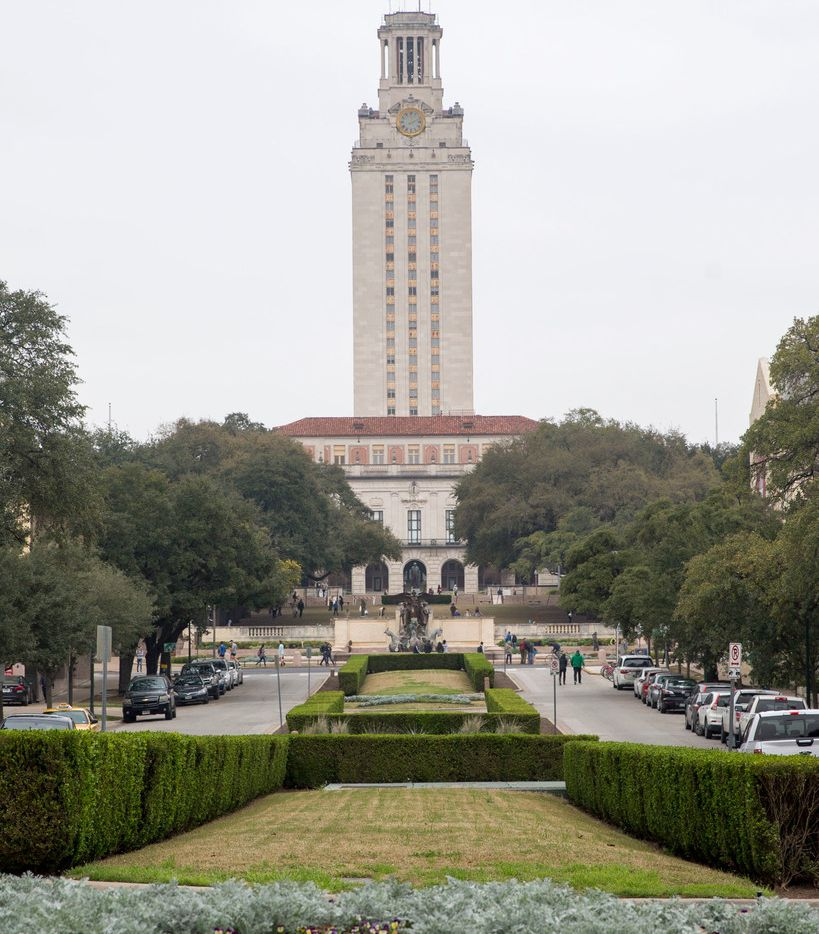 The UT tower at The Univeristy of Texas in Austin on Saturday, February 16, 2019.