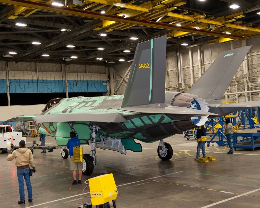 This F-35 jet destined for the Netherlands was built at the  Lockheed Martin Aeronautics plant in Fort Worth.