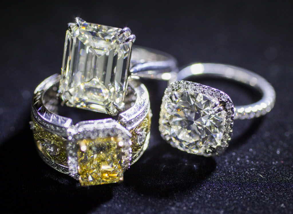 Diamond values are assigned on a grading system based on color, clarity, cut and carat weight. (Ashley Landis/The Dallas Morning News)