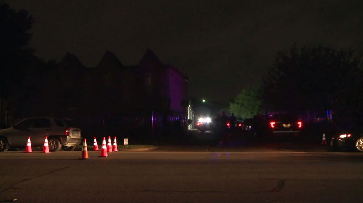 An image from the scene from footage captured by Metro Video Dallas/Fort Worth.