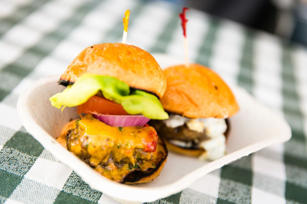 A bounty of sliders is served up at the Saturday afternoon Burgers, Brews & Blues event at Fort Worth Food & Wine Festival, March 30-April 1.