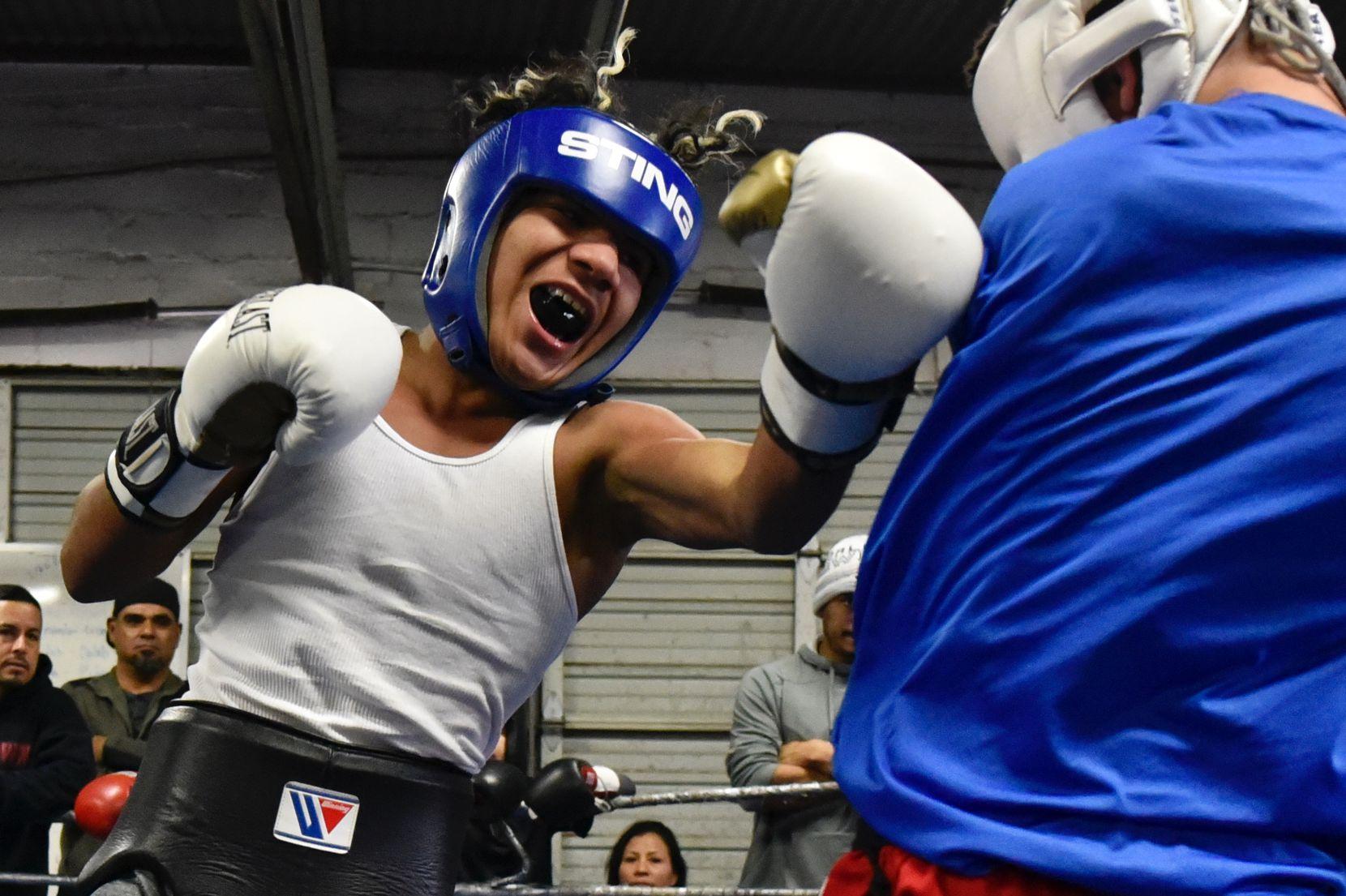 Jóvenes entrenan en Vivero Boxing Gym el sábado, 19 de enero, 2019. (Por Ben Torres / Especial para Al Día)