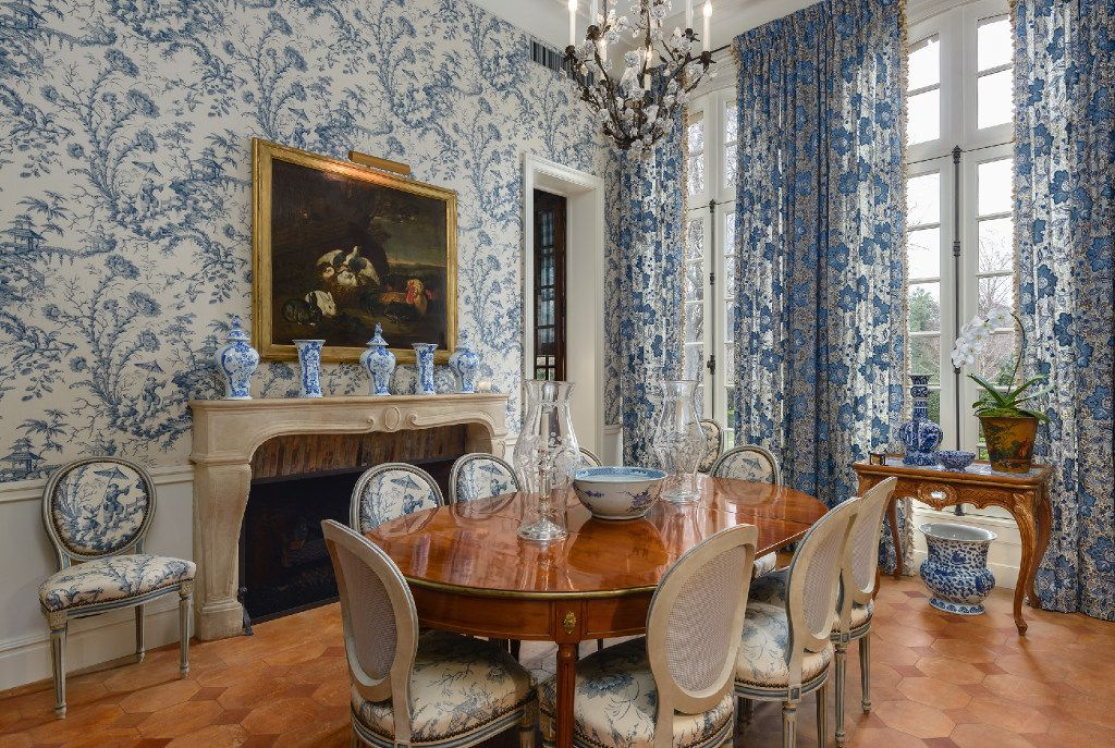 One of the two dining rooms inside the Preston Hollow estate of Bobby Haas.