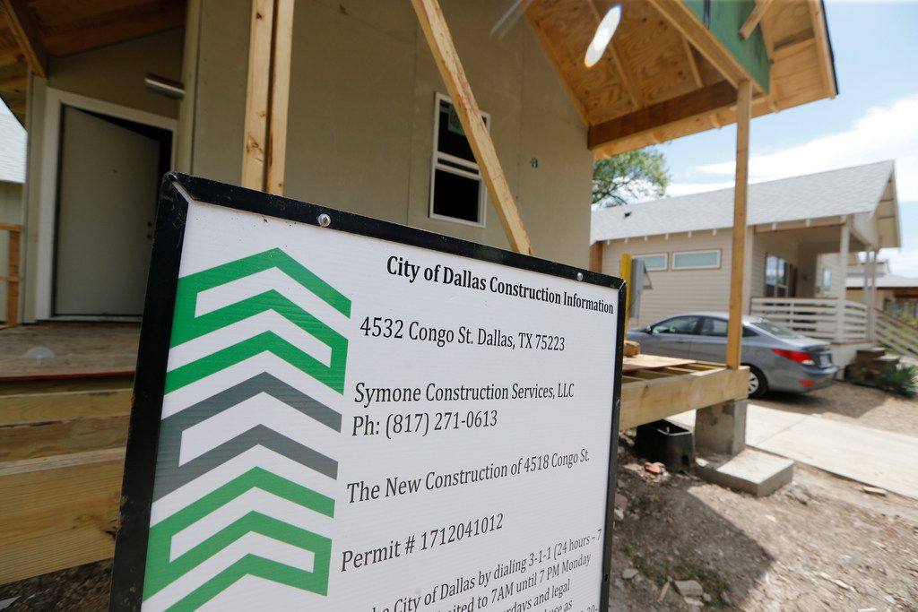 A house under construction at 4532 Congo St. built by a Community Housing Development Organization in Dallas.