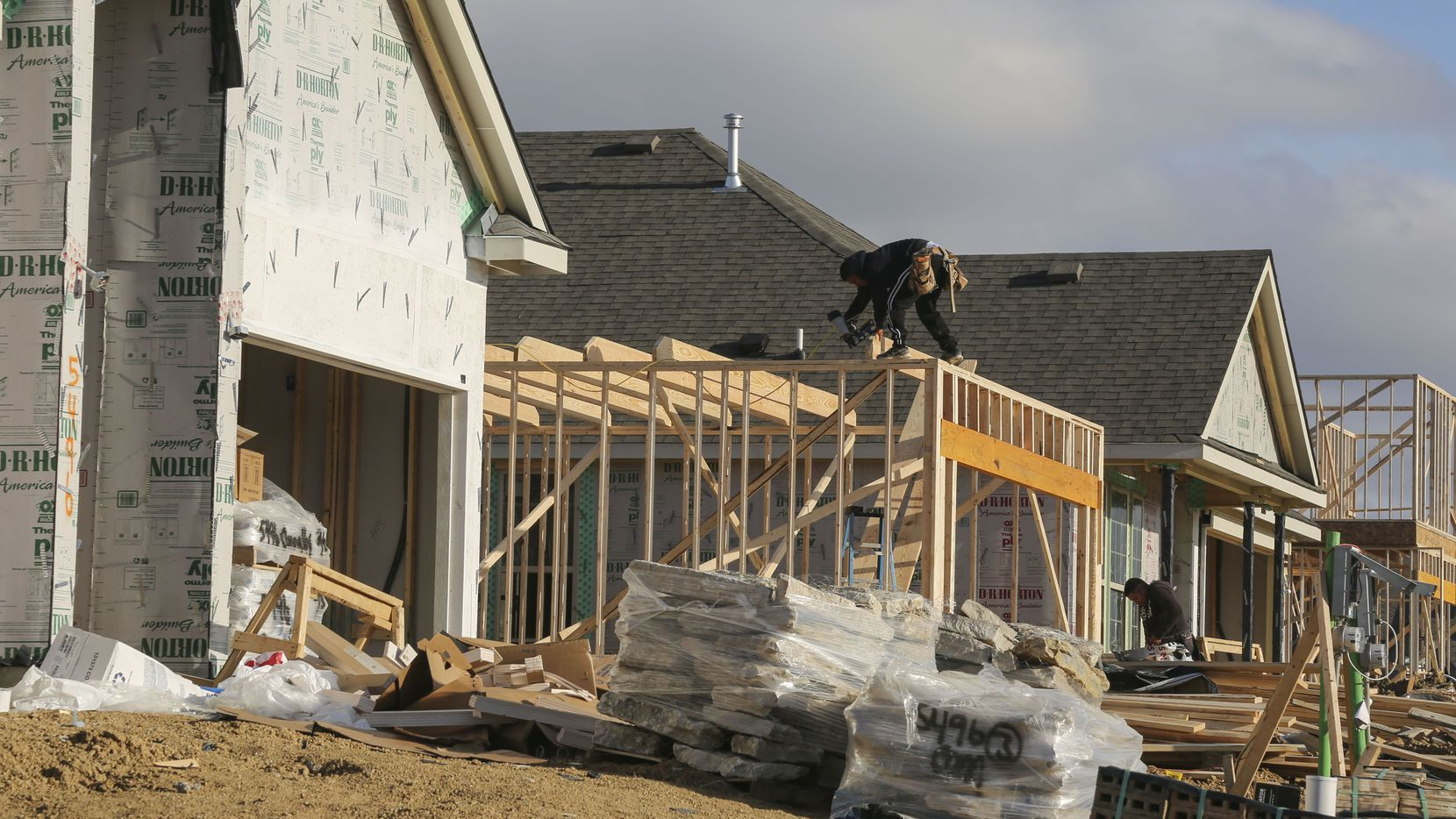 Permits for more than 63,00 new homes and apartments were recorded in the D-FW area last year.