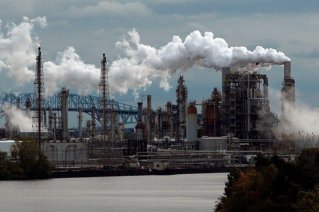 Philadelphia Energy Solutions is seen October 24, 2014, in Philadelphia, Pa. The refinery is the largest on the East Coast.