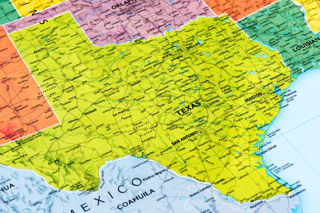Map of Texas Map of Texas State.