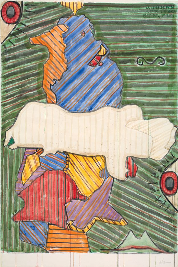 Jasper Johns, 'Untitled,' 1990. Watercolor and graphite pencil on paper, The Menil Collection, Houston; b equest of David Whitney.