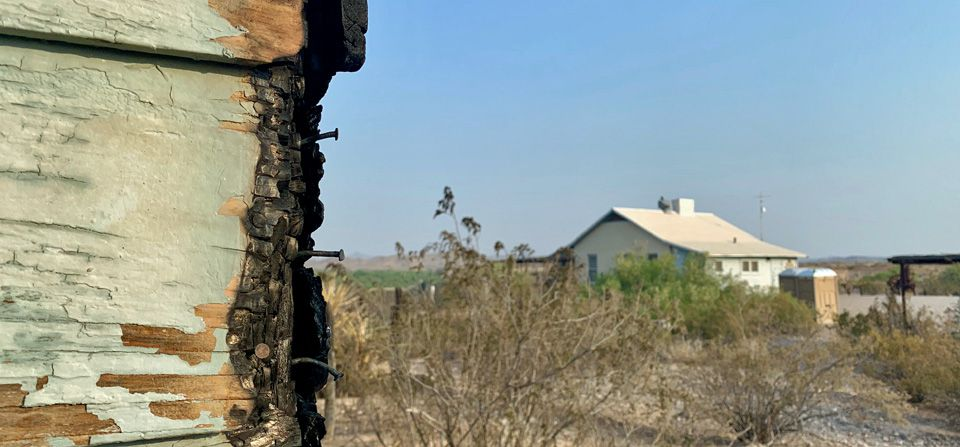 The fire started burning Big Bend's Castolon Historic District in late May.