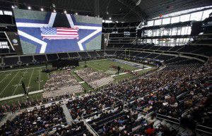 Thousands of people attended a memorial service for Chris Kyle at AT&T Stadium. (2013 File Photo/Vernon Bryant)
