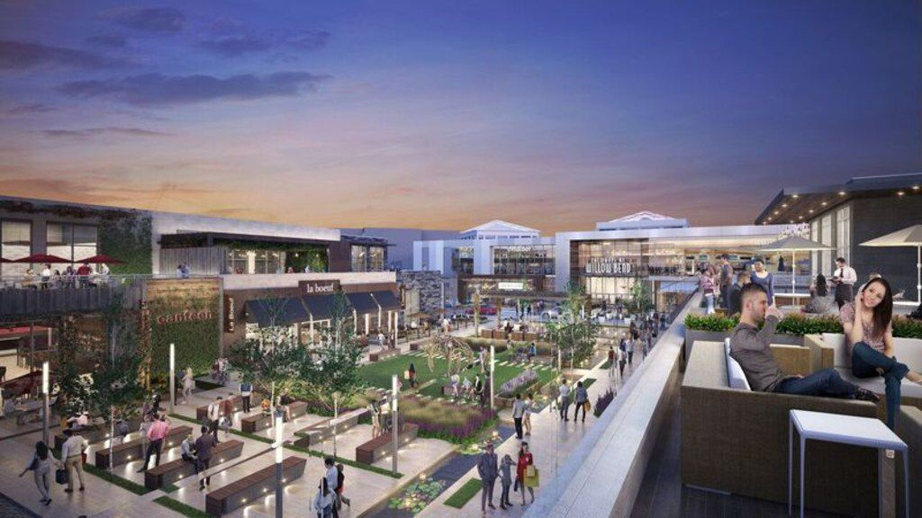 A new outdoor restaurant area attached to the enclosed mall will open later in 2018 at Plano's Shops at Willow Bend.