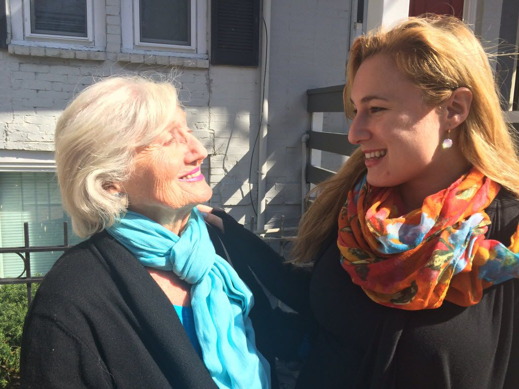 Holocaust survivor Magda Bader, 86, with her granddaughter Naomi Martin, is concerned that discriminatory views are becoming more mainstream in the U.S. and abroad.