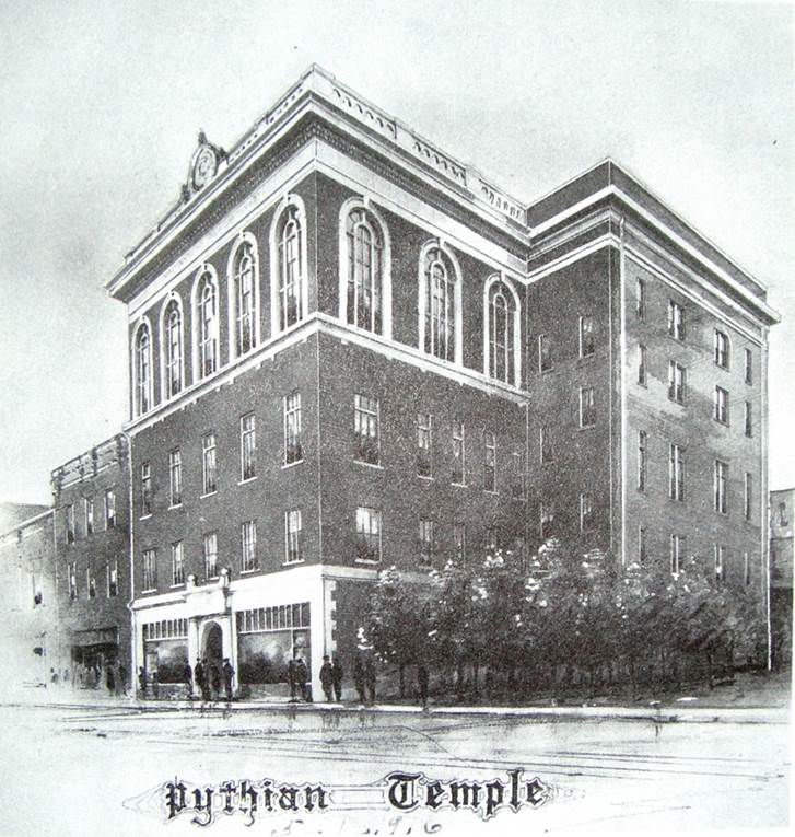 The building as it looked a century ago in a rendering once loaned to me by the late Louis Bedford.