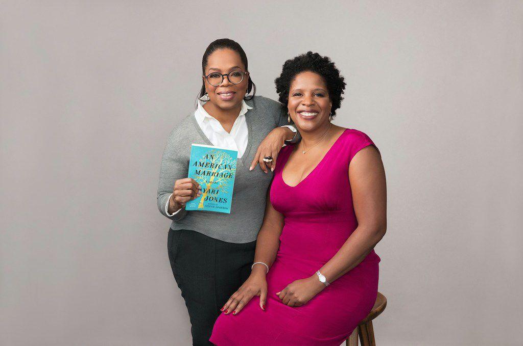 Oprah Winfrey with Tayari Jones, author of An American Marriage.