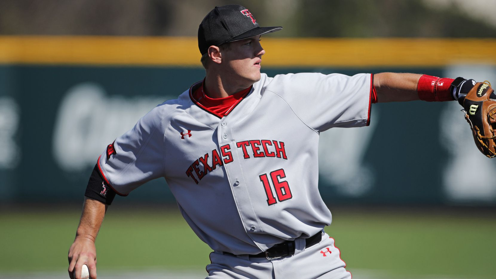 Texas Tech third baseman Josh Jung during an NCAA college baseball game against Kansas State, Sunday, March 31, 2019, in Manhattan, Kan. (AP Photo/Colin E. Braley)