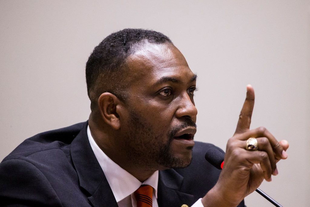 Mayor Pro Tem Casey Thomas listened to citizens concerned about last week's shooting of 26-year-old Botham Jean by a Dallas police officer.