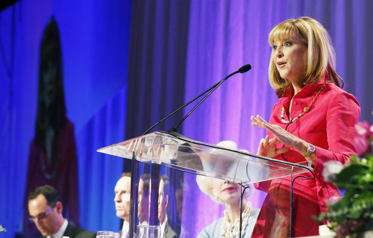 Debbie Dudley Branson durante el 87 anniversario de los Premios Linz celebrado en Dallas el 6 de abril. Branson será la oradora del Día de Igualdad de la Mujer este miércoles. (DMN/David Woo)