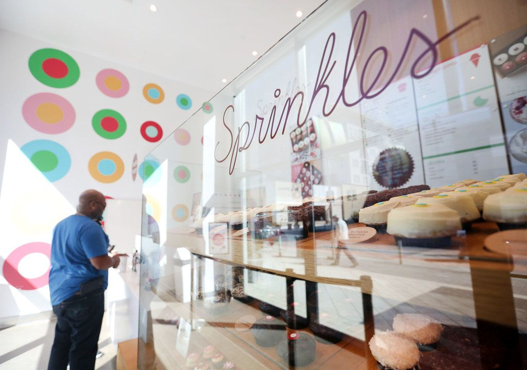 Interior of Sprinkles Cupcakes at Legacy West in Plano.
