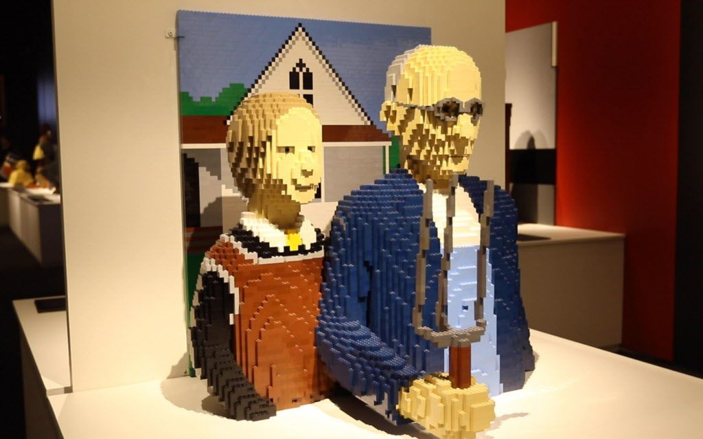 The Art of the Brick! LEGO art exhibit by Nathan Sawaya on display Thursday at the Perot Museum of Nature and Science in Dallas. (Benjamin Robinson/The Dallas Morning News)