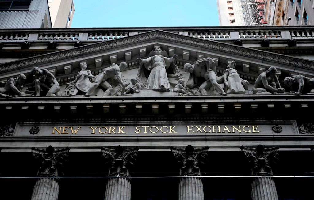 The New York Stock Exchange (NYSE) on August 15, 2019 at Wall Street in New York City. - Wall Street stocks opened higher Thursday following mixed US economic data, bouncing modestly after the Dow suffered its worst session of the year. About five minutes into trading, the Dow Jones Industrial Average was at 25,531.36, up 0.2 percent. The broad-based S&P 500 also added 0.2 percent at 2,846.22, along with the tech-rich Nasdaq Composite Index, which stood at 2,846.22. (Photo by Johannes EISELE / AFP)JOHANNES EISELE/AFP/Getty Images