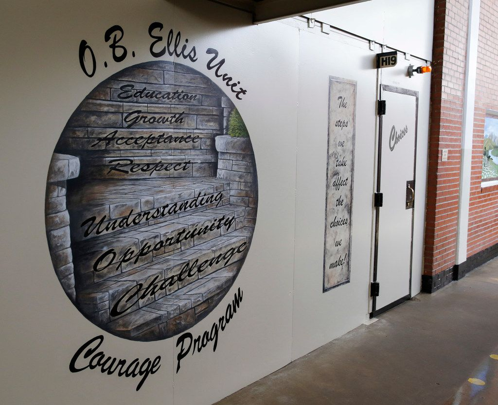 Entrance to the COURAGE Program at the O.B. Ellis Unit, a state prison in Huntsville, Texas, on Tuesday, May 29, 2018. The youthful offender program will house up to 52 male offenders.