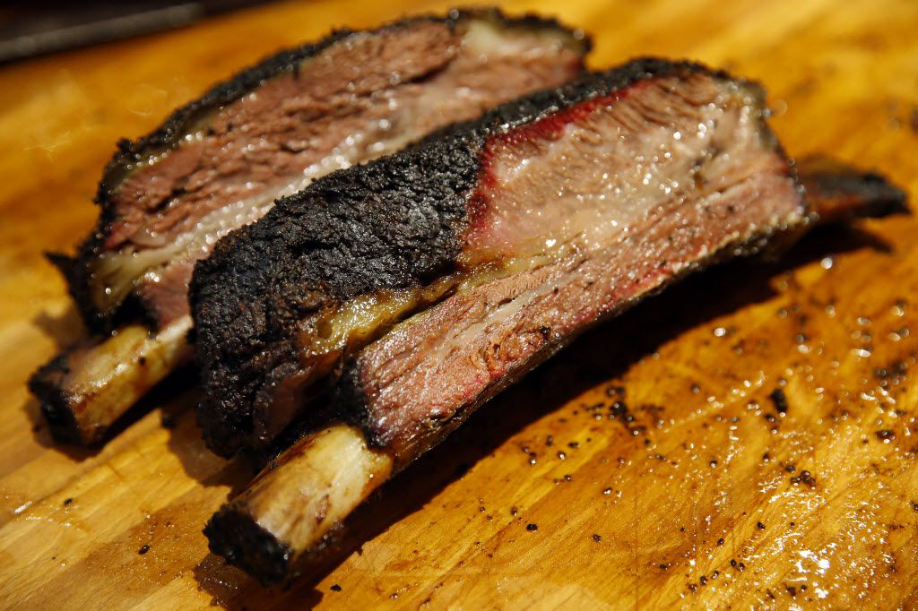 Freshly cut beef ribs are ready to serve at Todd and Misty David's newly reopened Cattleack Barbeque, Wednesday, July 7, 2016.  They doubled the size of their location at 13628 Gamma Rd. in North Dallas.