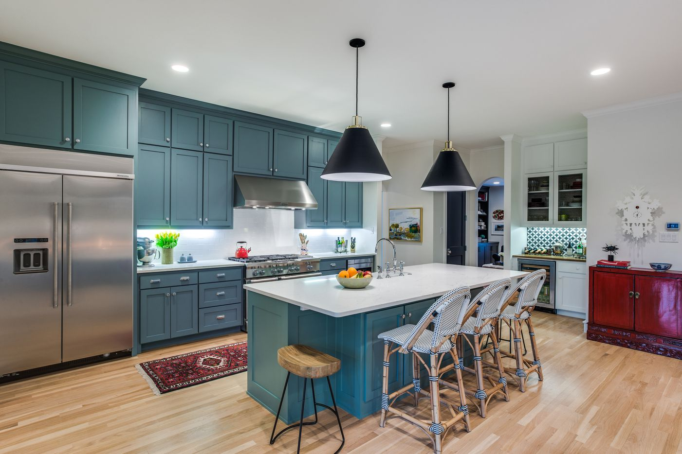 The buyer of Thomas Development + Construction's house wanted a New England look.