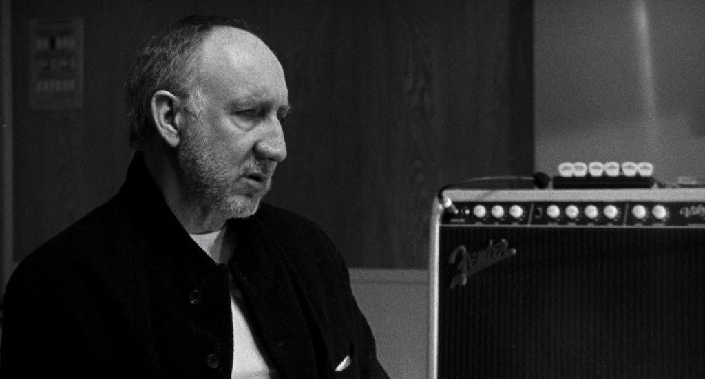 "Pete Townshend in a scene from the documentary ""Lambert & Stamp."""