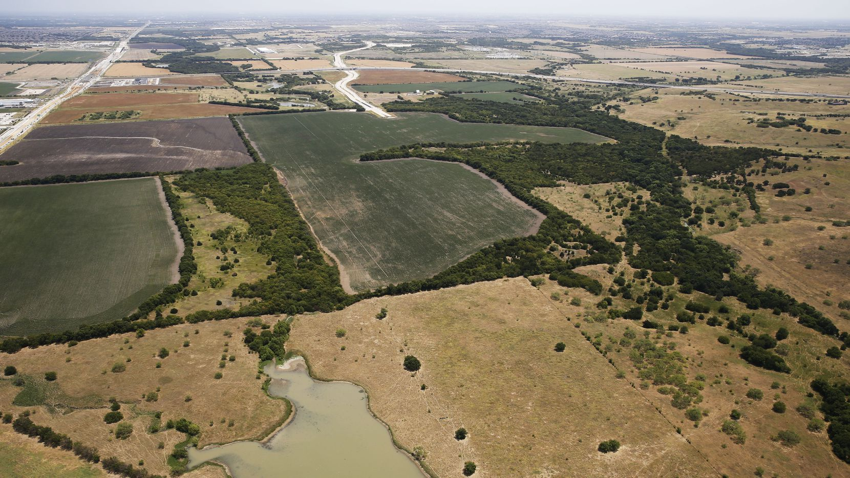 The more than 2,500-acre Fields property in Frisco stretches from Preston Road to west of the Dallas North Tollway.