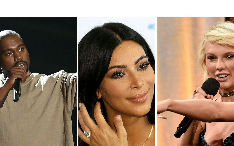 Kim Kardashian compartió en su cuenta de Snapchat una supueta conversación entre Kanye y Taylor Swift./AP