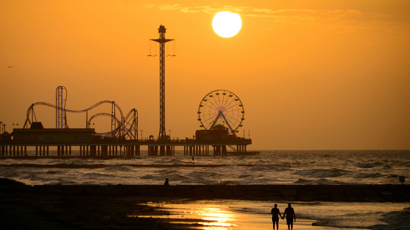 Every morning, Galveston's population nearly doubles, then falls again at night when people who work on the island head back across the causeway. Figuring out how to keep more of those workers on the island is a major challenge identified by Vision Galveston.    The historic Pleasure Pier (shown here) is one of Galveston's iconic tourist draws.