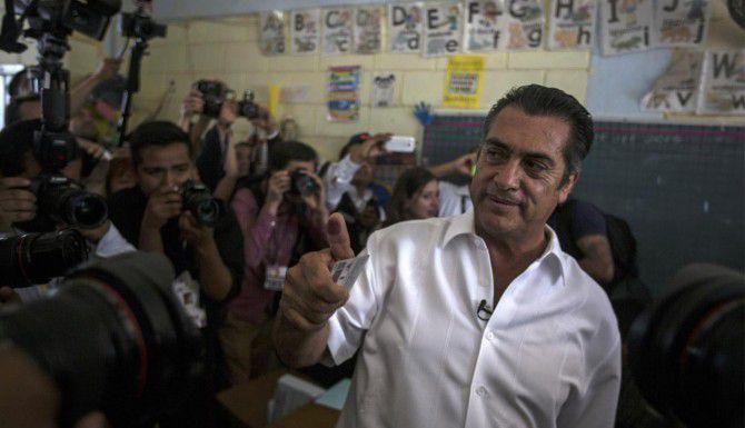 """El candidato indeoendiente Jaime Rodríguez, conocido como """"El Bronco"""" se perfila como ganador de la gubernatura de Nuevo León.(AP)"""
