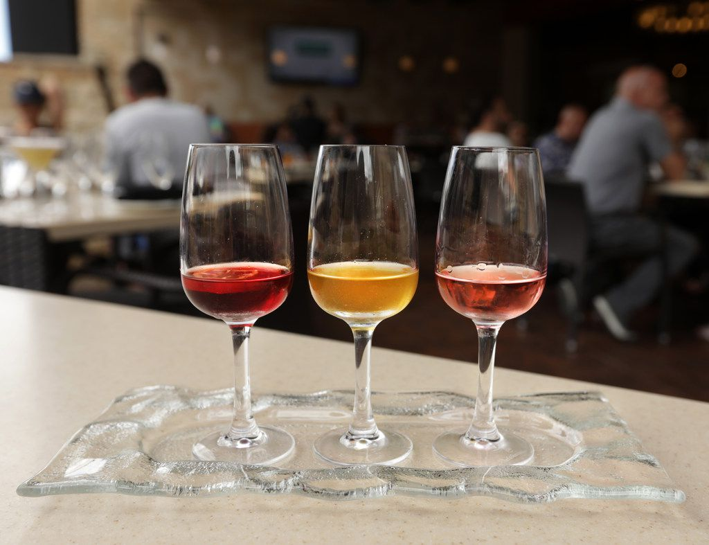 The Infused Tequila Flight at Mi Dia From Scratch in Plano, TX, on Jun. 7, 2019. (Jason Janik/Special Contributor)