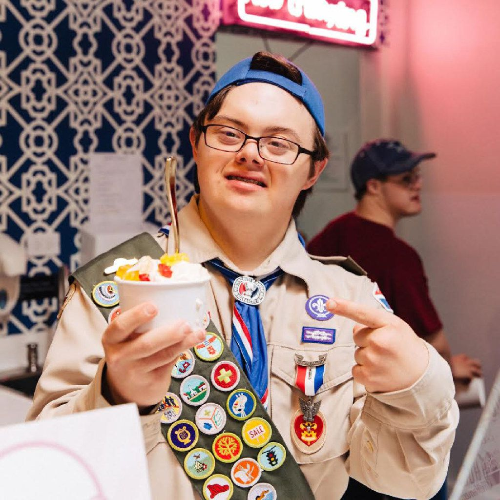 Coleman Jones is the inspiration for and the vice president of Howdy Homemade, an ice cream store.
