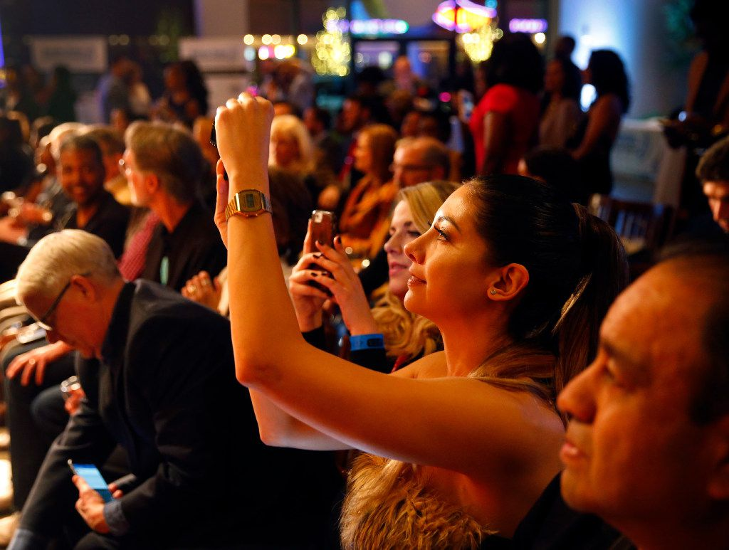 Phones were out for photos at the Food in Fashion event at 3015 in the Trinity Groves.