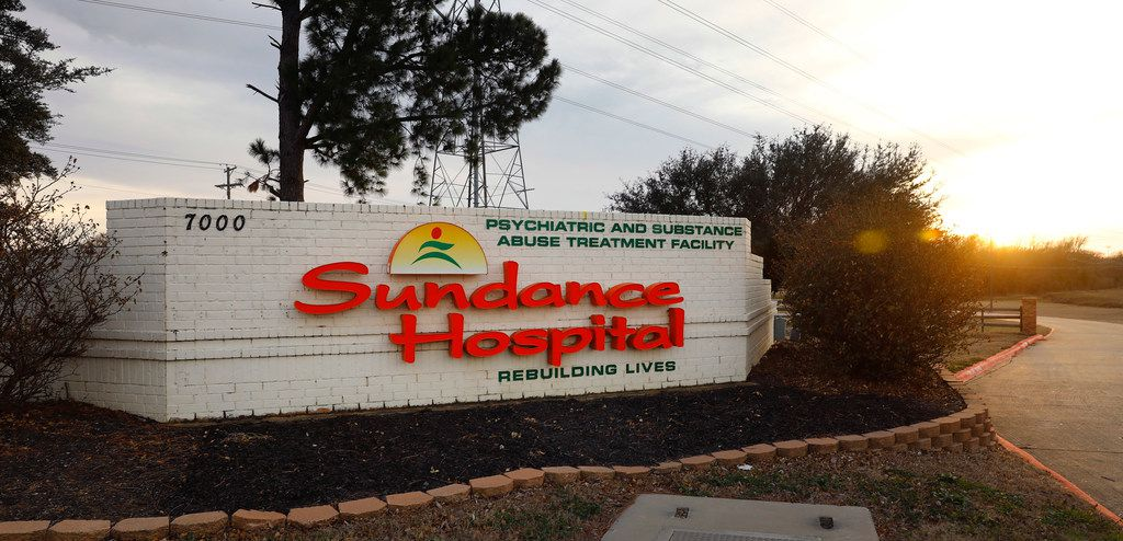 The entrance to Sundance Hospital at 7000 U.S. 287 Frontage Rd in Arlington, TX, is pictured Thursday, February 15, 2018. (Tom Fox/The Dallas Morning News)