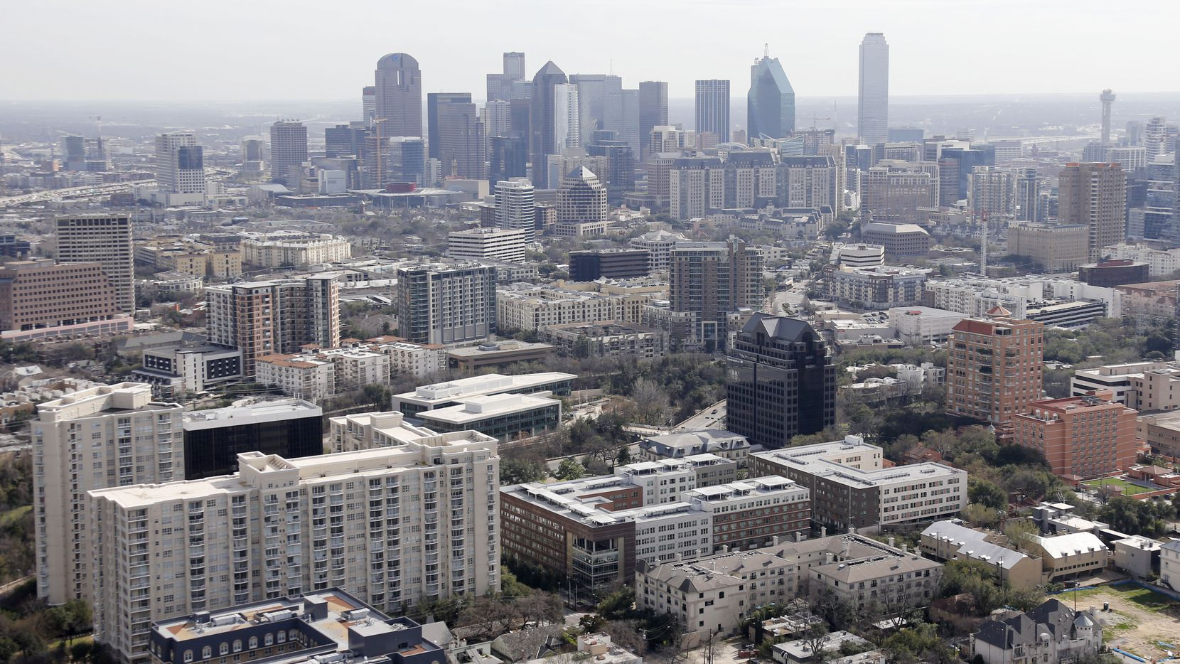 Apartment, condominium and office complexes in the Uptown, Oak Lawn, Turtle Creek and Cedar Springs areas north of downtown Dallas were photographed in February.