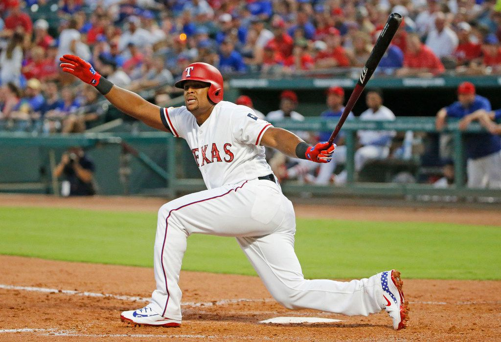 Texas Rangers third baseman Adrian Beltre (29) is pictured during the Houston Astros vs. the Texas Rangers major league baseball game at Globe Life Park in Arlington, Texas, on Tuesday, July 3, 2018. (Louis DeLuca/The Dallas Morning News)