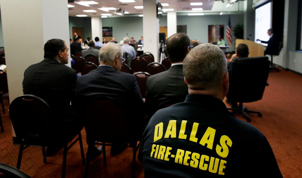Members of the Dallas Police and Fire Pension System awaited the outcome of the DROP vote last week.