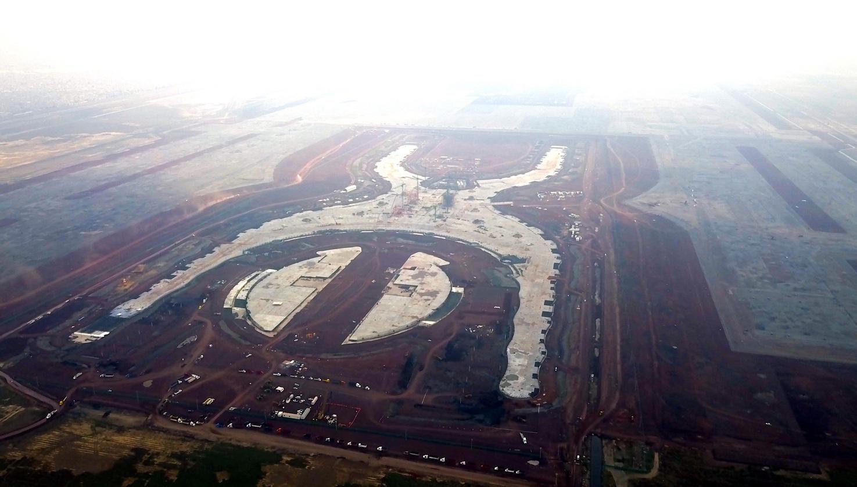 Construcción del nuevo Aeropuerto Internacional de la Ciudad de México en Texcoco.(AGENCIA REFORMA)