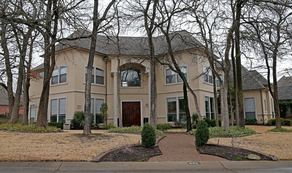 Lonnie Brantley's house on Marshall Road in Southlake. The federal government wants him to sell it to pay part of his required victims' restitution.