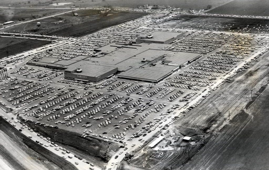 Big Town, the first shopping mall in the  Dallas area, opened  on Feb. 27, 1959 on U.S. Highway 80 near  Buckner Boulevard in Mesquite. It had 40 stores, including  Sanger Bros., Montgomery Ward and J.C. Penney.At one time it also includes a bowling alley, town hall, movie theater and cafeteria.