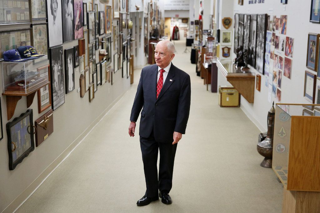 Ross Perot gives a tour of his personal artifacts to The Dallas Morning News at the Dell headquarters in Plano, Texas Friday October 7, 2016. (Andy Jacobsohn/The Dallas Morning News)