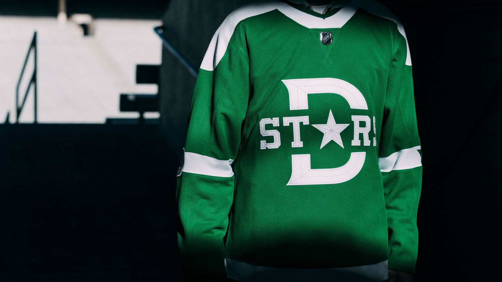 The Dallas Stars will wear this jersey during the Winter Classic on Jan. 1 against the Nashville Predators at the Cotton Bowl. It will be the southernmost outdoor game in NHL history. (Courtesy/Dallas Stars)
