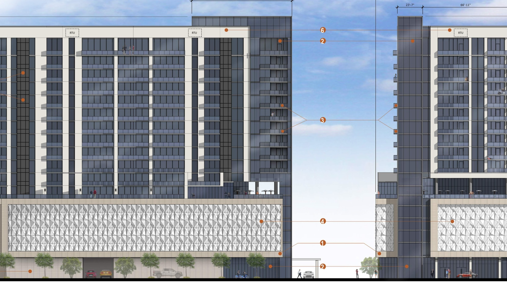 The 17-story Star House apartment tower in Frisco will be built near the Dallas North Tollway.