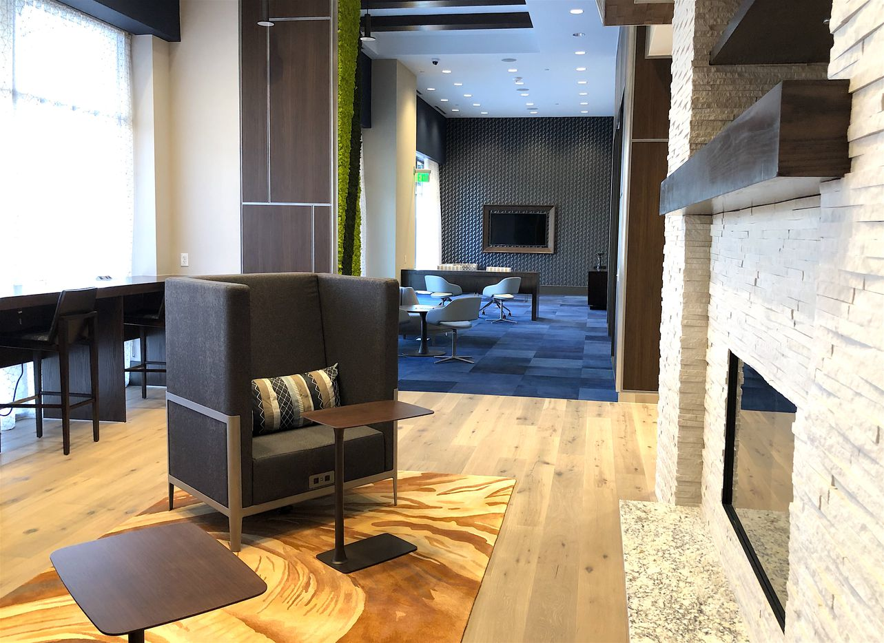 The coworking and business center in the SkyHouse Frisco Station.