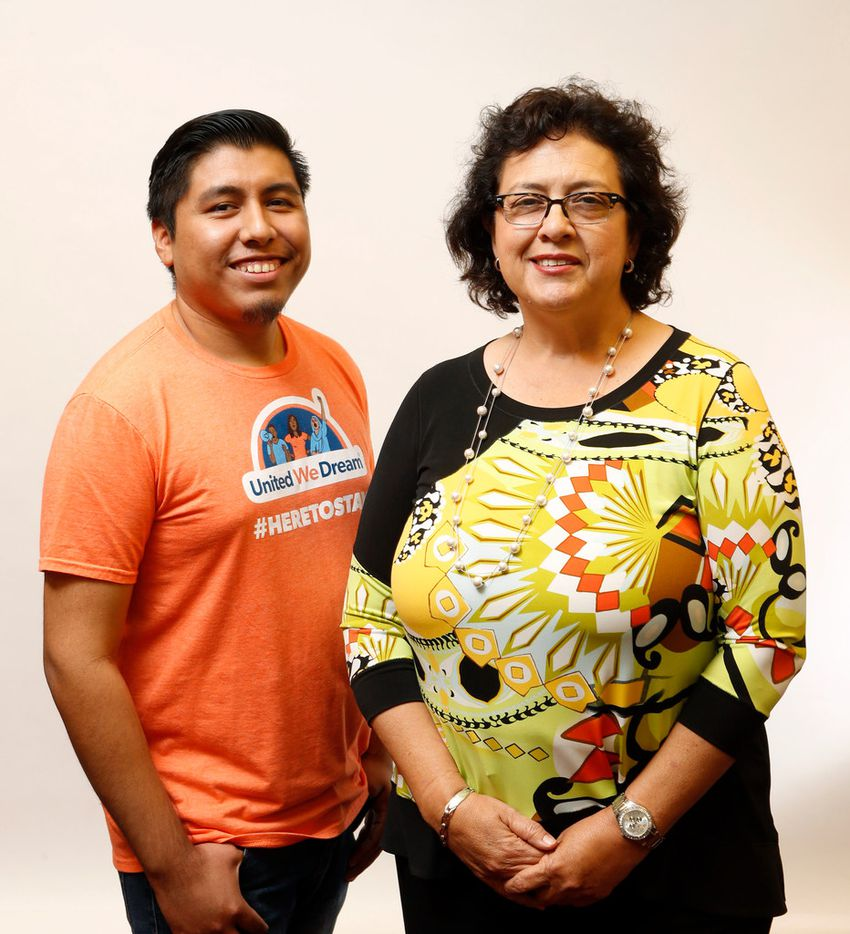 Sheridan Aguirre and Rep. Celia Israel, D-Austin, pose for a portrait at the Texas State Capitol in Austin on Thursday, June 14, 2018. (Vernon Bryant/The Dallas Morning News)