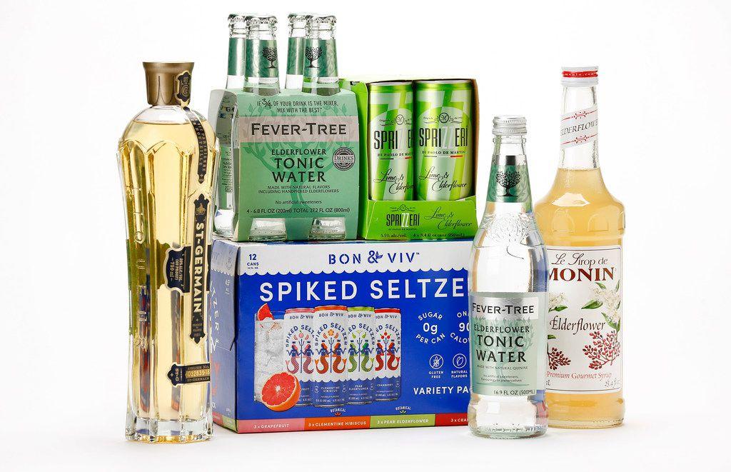 Drinks made with elderflower.